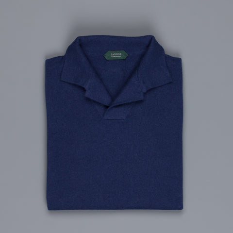 Zanone ML Polo Without Buttons Blu Regata