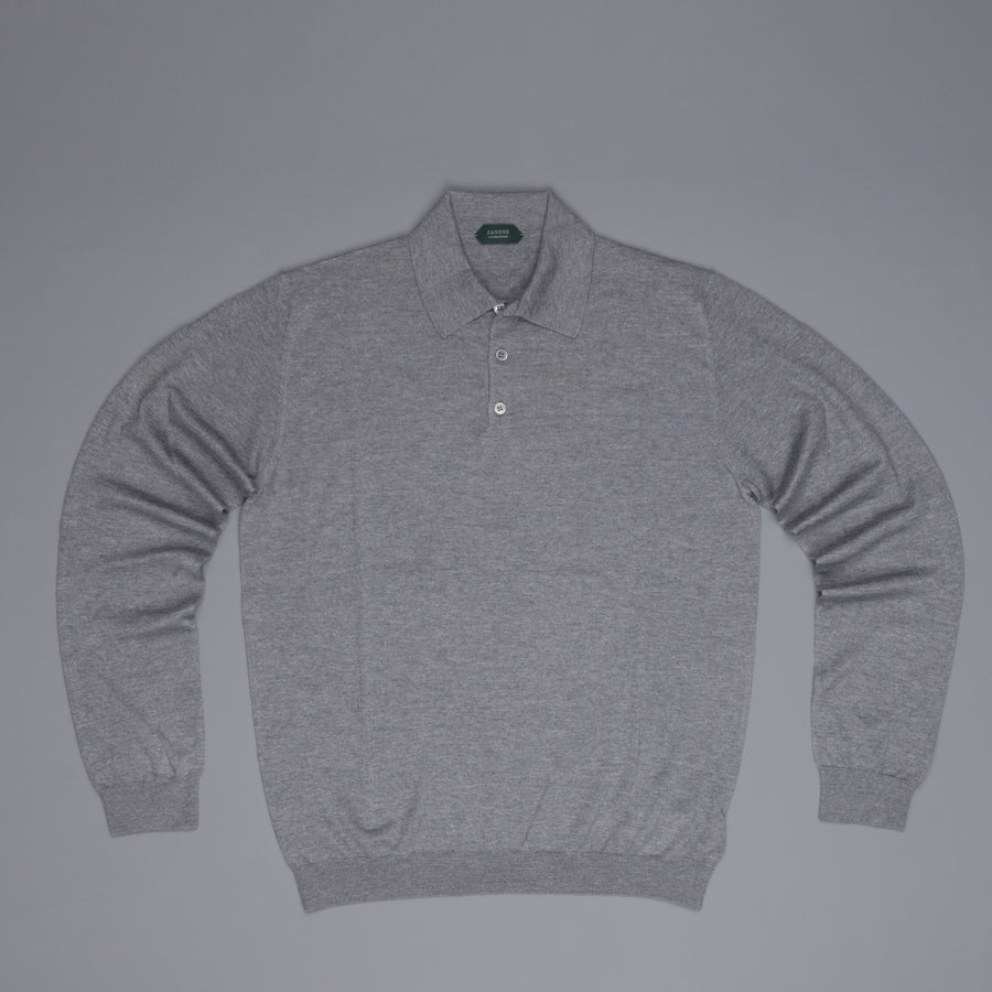 Zanone cashmere polo grey