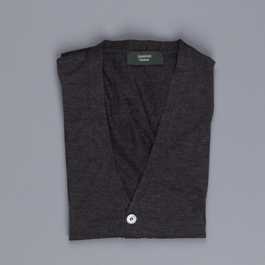 Zanone Flexwool Cardigan Charcoal