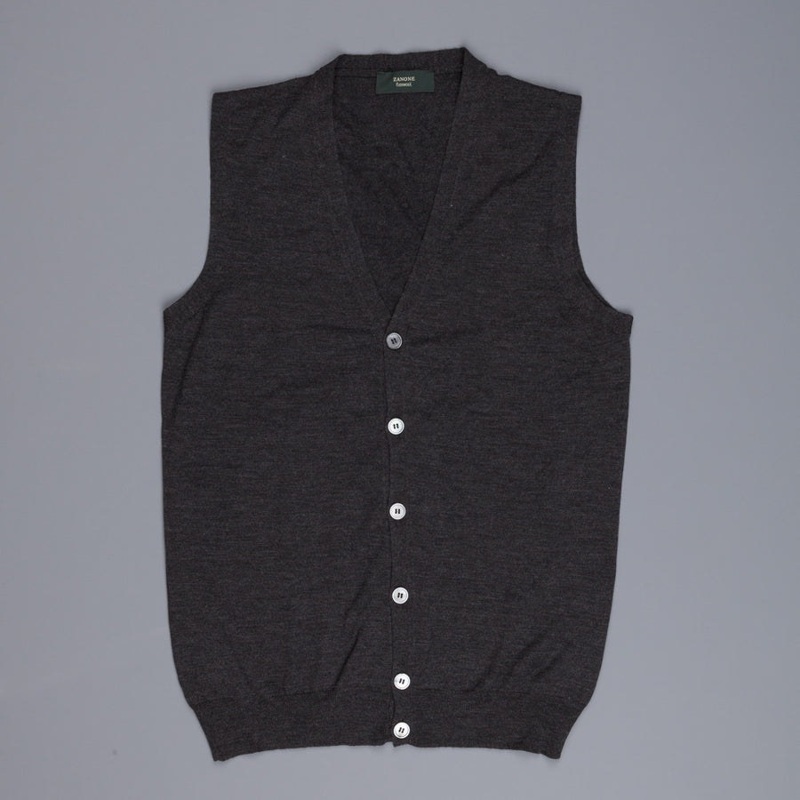 Zanone Flexwool Gillet Charcoal