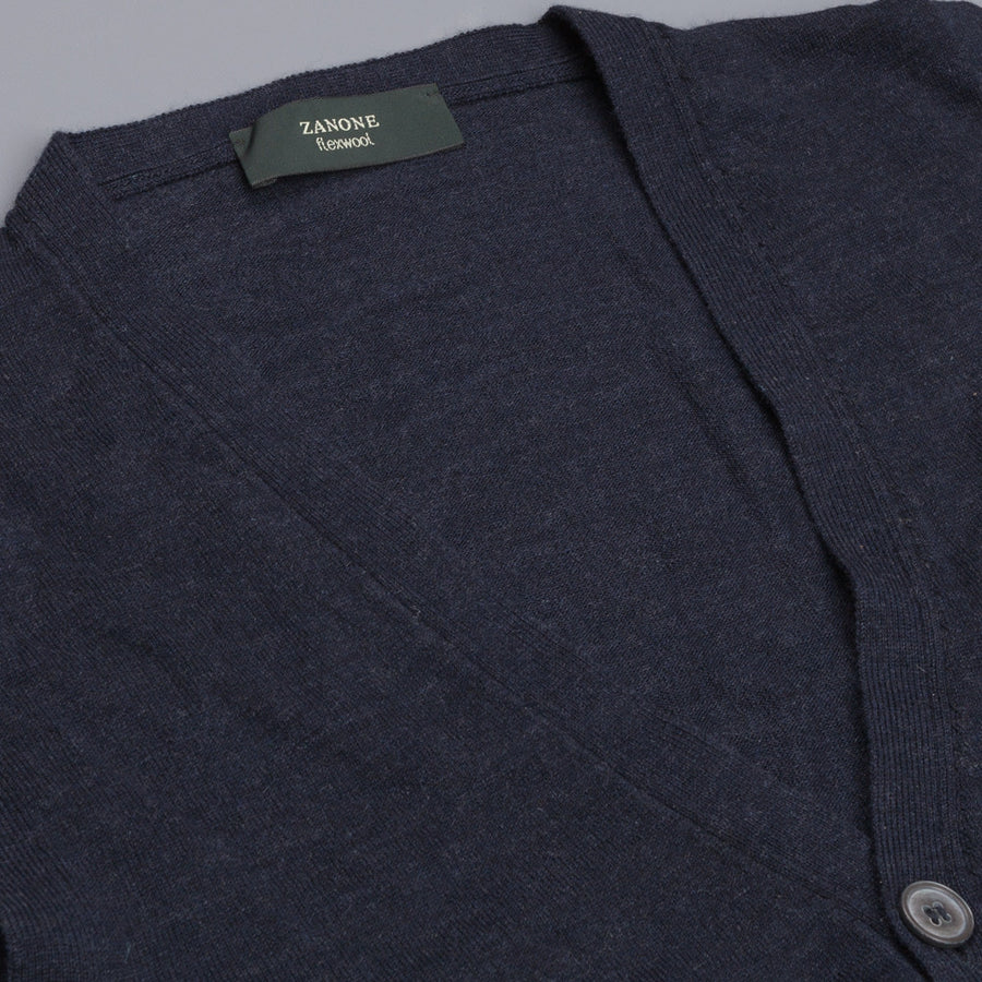 Zanone Flexwool Gillet Navy