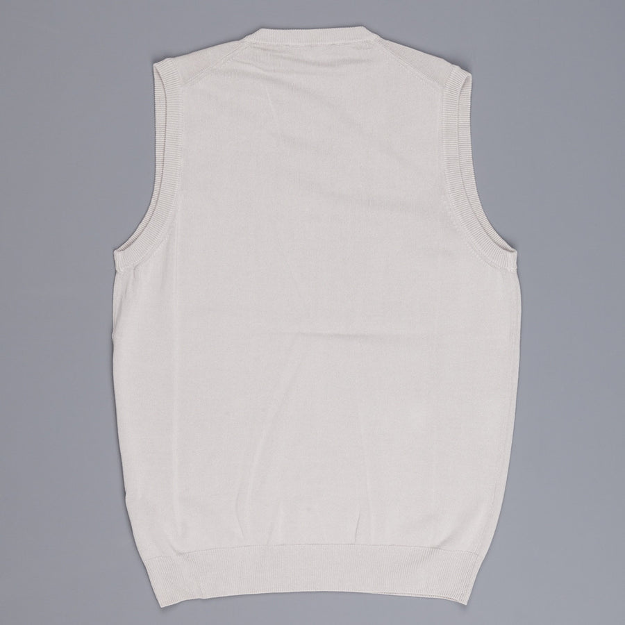 Zanone ice cotton sleeveless v neck Tan