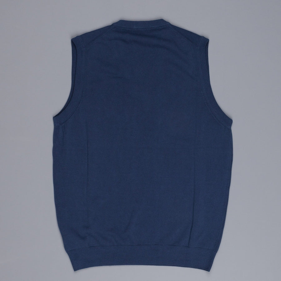 Zanone ice cotton sleeveless v neck Blue