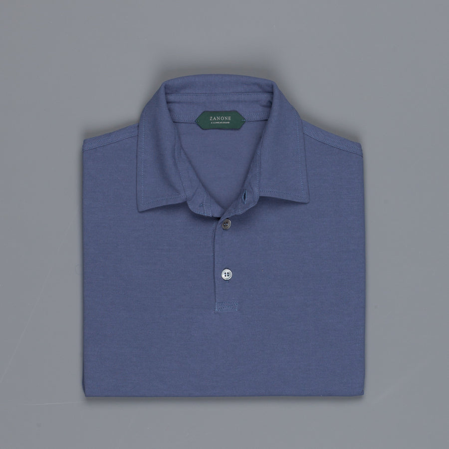 Zanone Polo MC Crepe Cotton Glicine Scuro