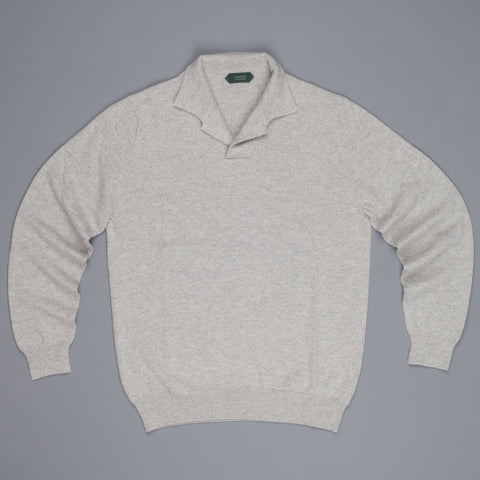 Zanone ML Polo Without Buttons Grigio Chiaro Melange