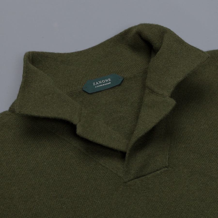 Zanone ML Polo Without Buttons Verde Pino