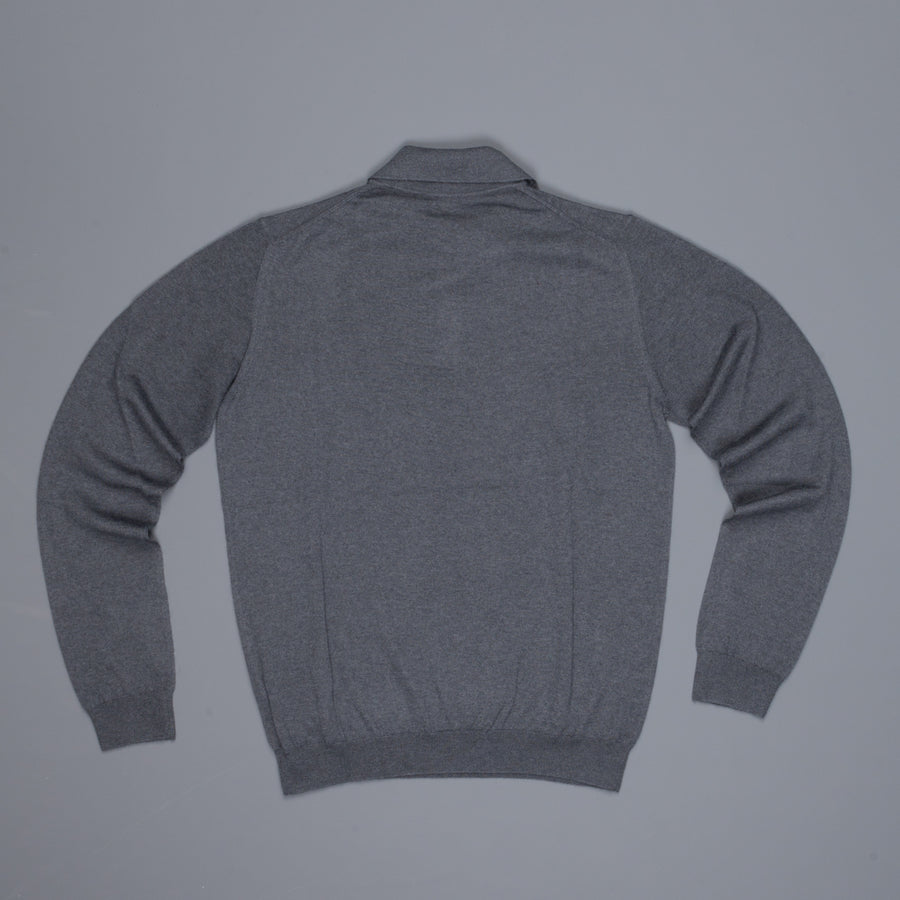 Zanone Cashmere Polo Dark Grey