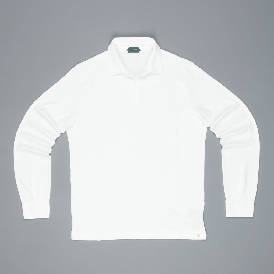 Zanone longsleeve polo Pima cotton white