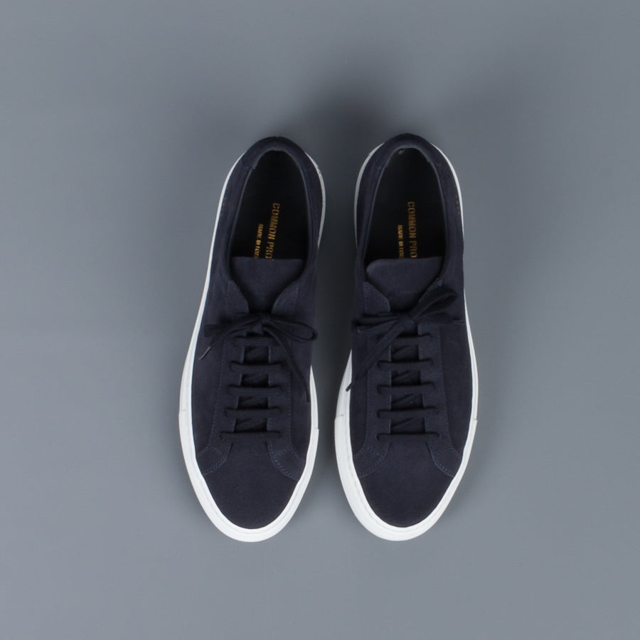 Common Projects Original Achilles Low in suede Navy