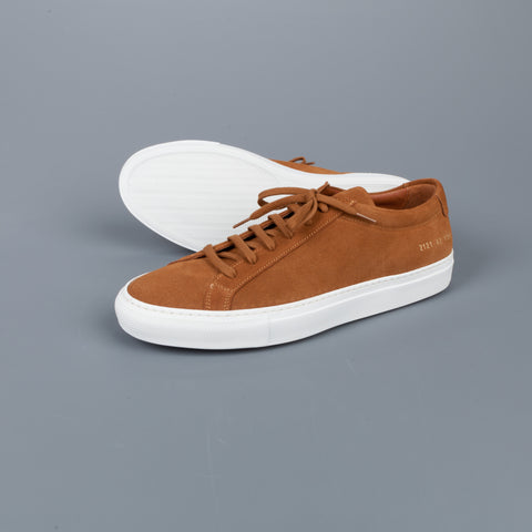 Common Projects Original Achilles Low in suede Tan
