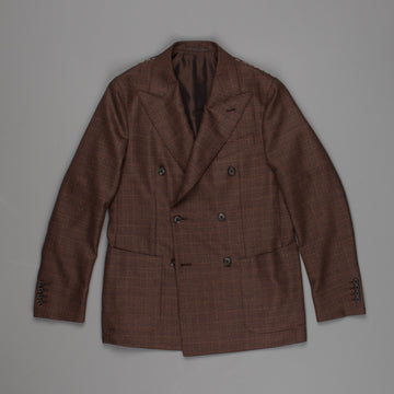 Caruso Aida DB Jacket Houndstooth Brown