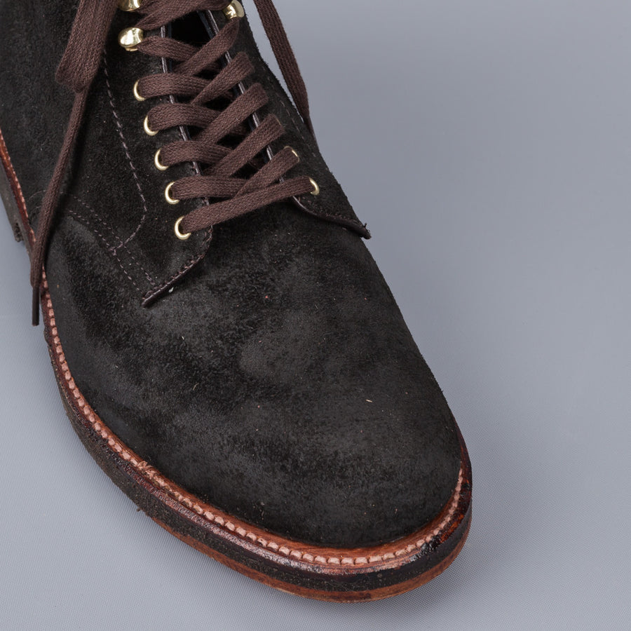 Alden x Frans Boone boot in waxed earth reverse chamois