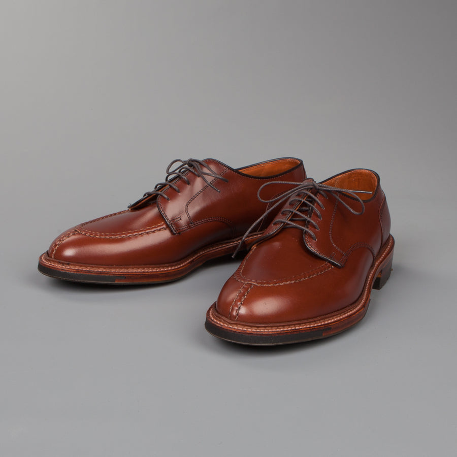 Alden Norwegian Split toe blucher on commando sole in walnut calfskin