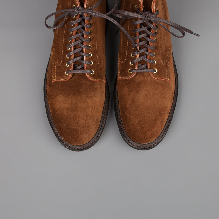 Alden Snuff Suede Barrie last plain toe boot