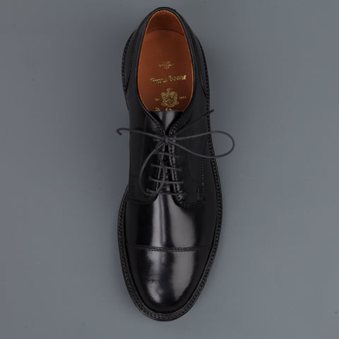 Alden x Frans Boone exclusive unlined captoe in black cordovan