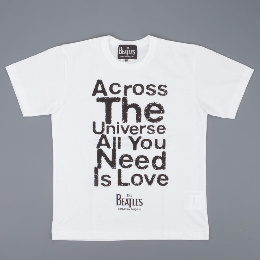 The Beatles x Comme des Garçons  T shirt across the universe white