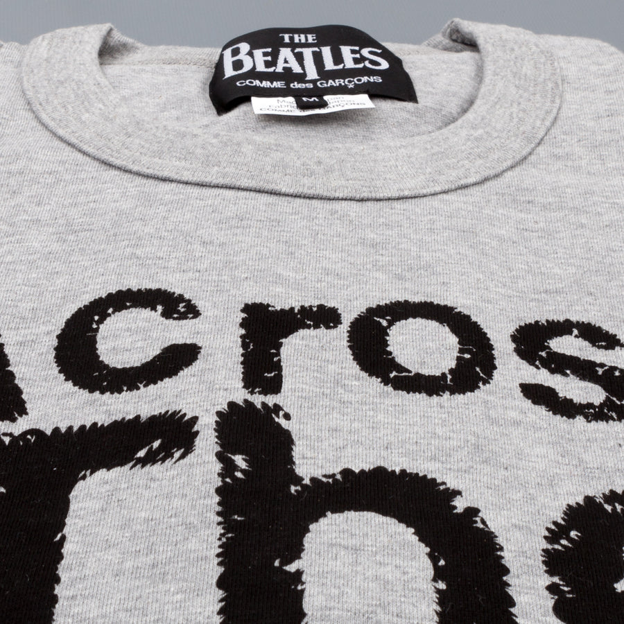 The Beatles x Comme des Garçons  T shirt Across the universe heather grey