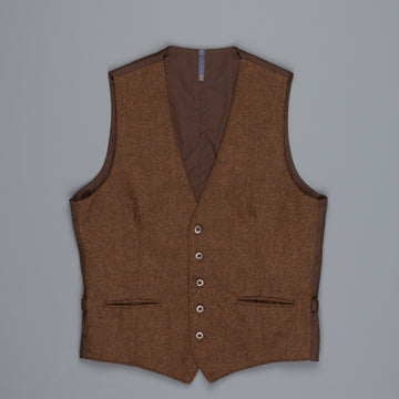 Montedoro Gilet Herringbone Brown