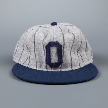 Ebbets field flannels Osaka tigers 1945 6 panel strap back cap grey stripe