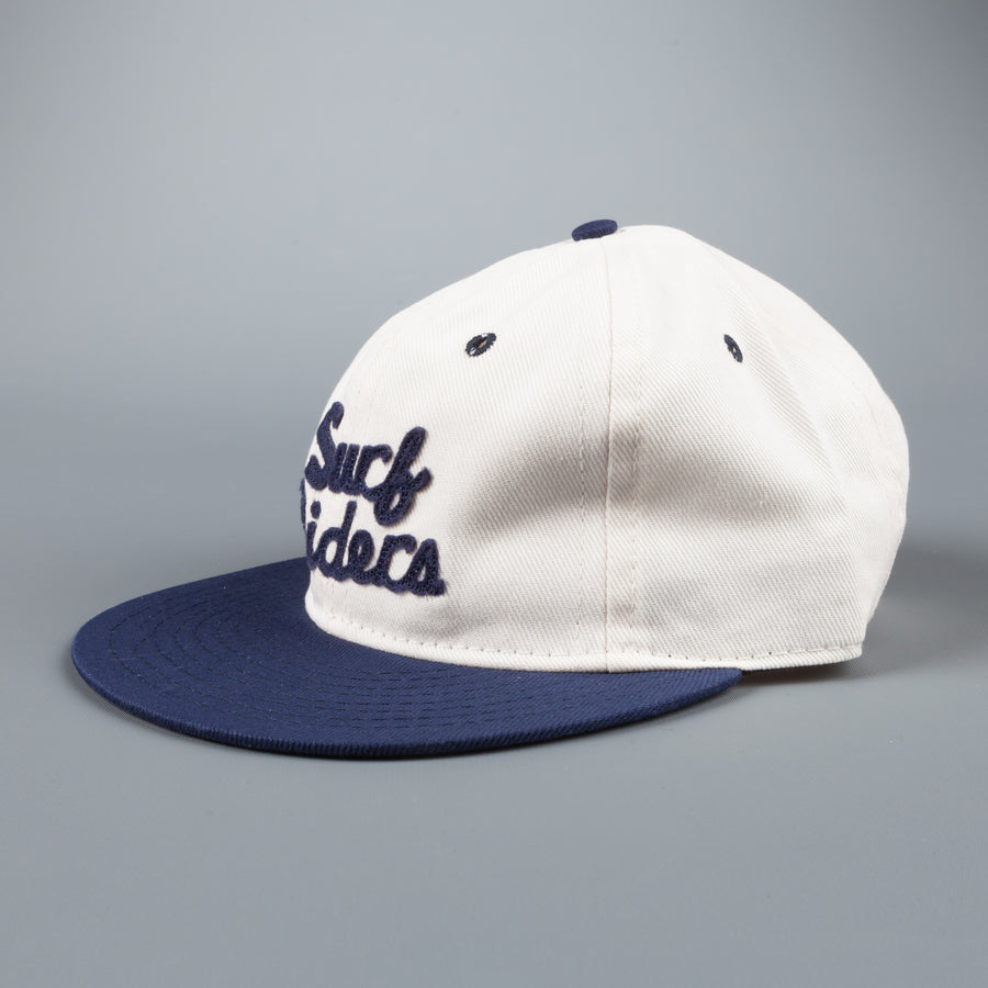 Ebbets field flannels SF Surf Riders cavalry twill 6 panel strap back cap navy creme