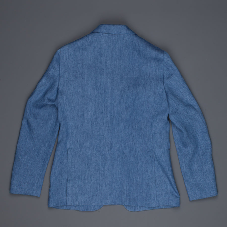 Caruso Butterfly GZE jacket blu denim linen