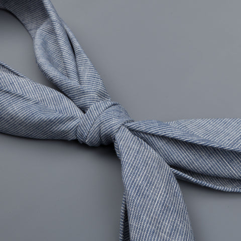 Caruso Esagonal Scarf Cotton blue white