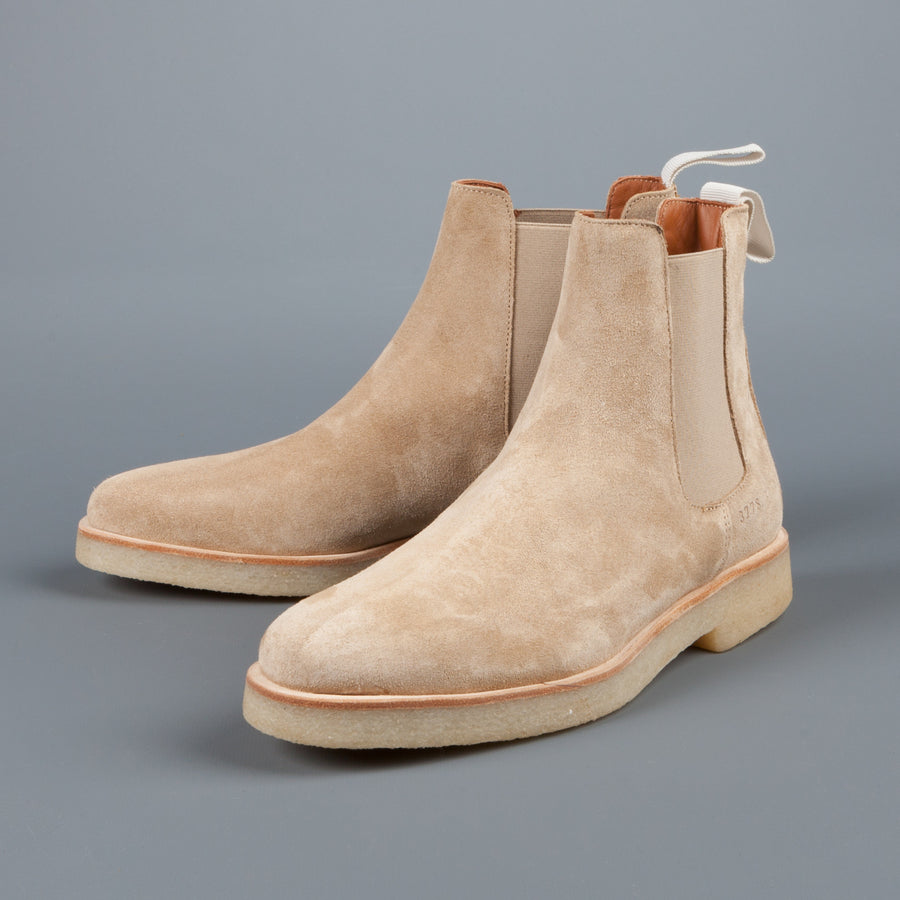 Common Projects Woman by Common Projects Chelsea boot in tan suede