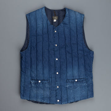 Rocky Mountain Featherbed Denim Crew Vest Indigo Used Wash