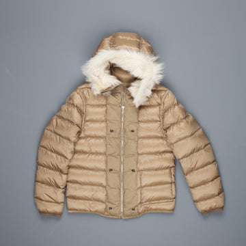 Ten C down liner shearling hooded tan