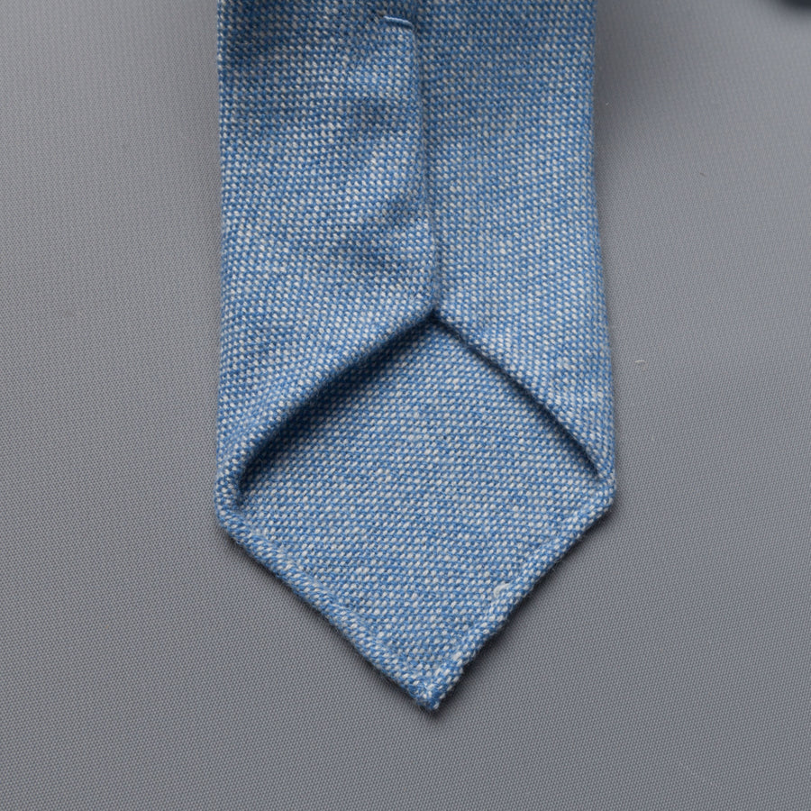 Drakes Cashmere tie, untipped light blue melange