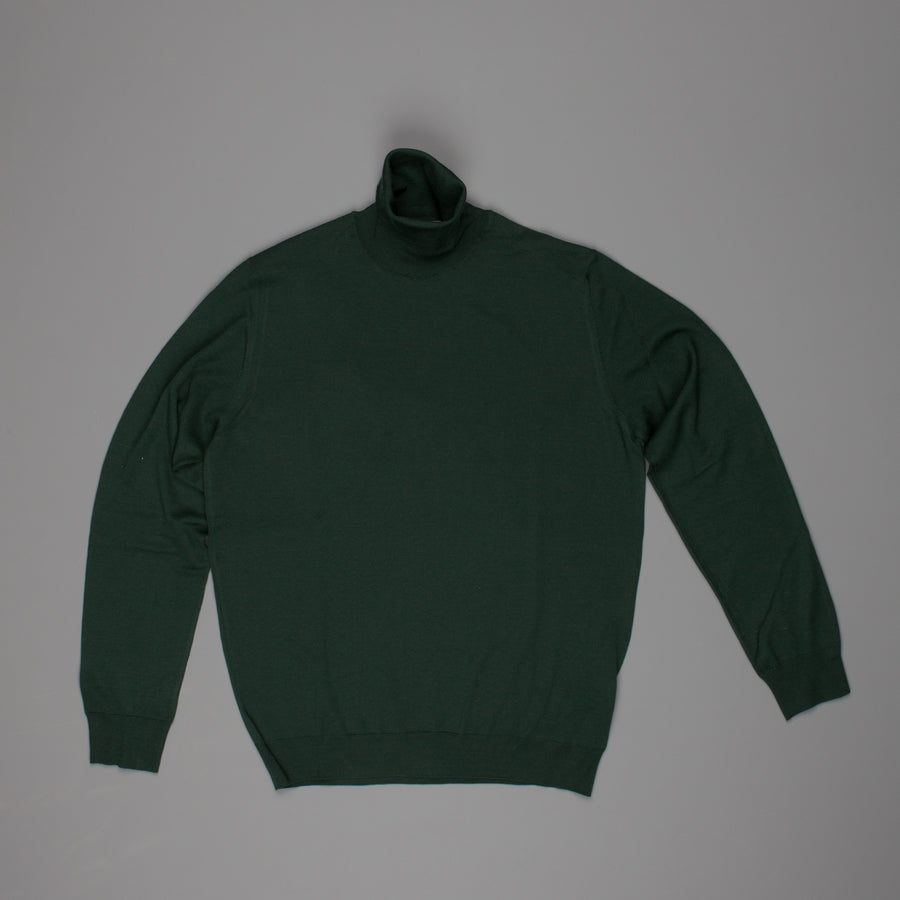 Drumohr Dolcevita Turtleneck merino wool racing green