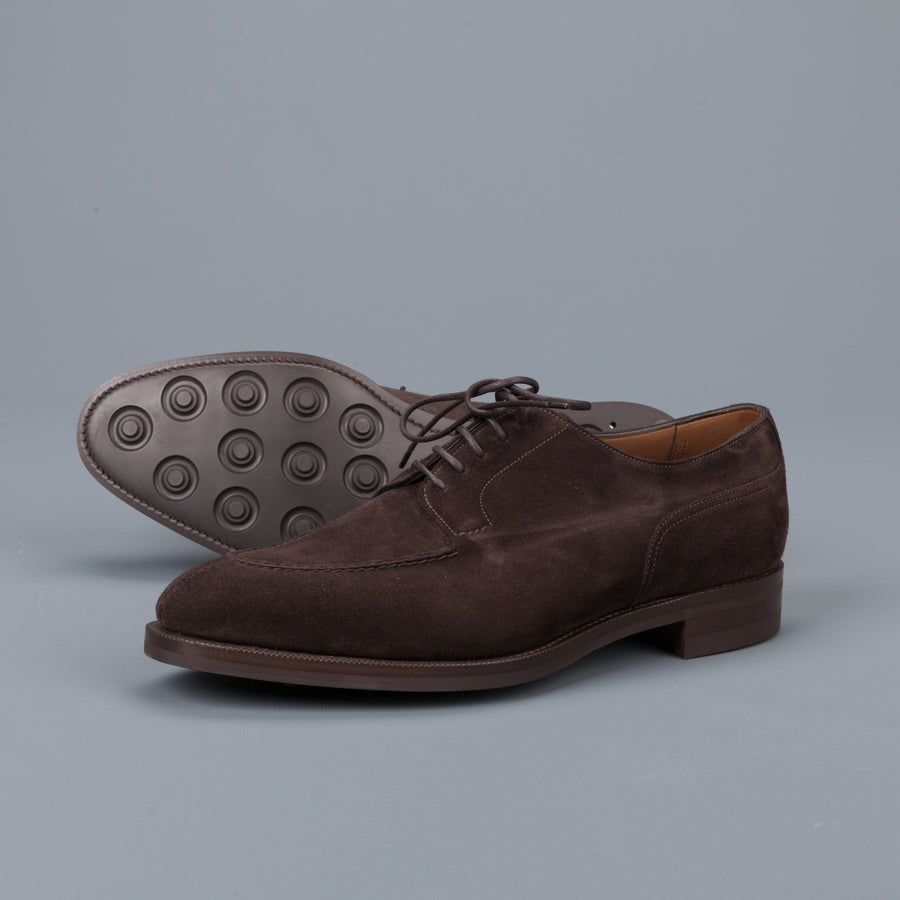 Edward Green Dover in Espresso Suede on Dainite Sole