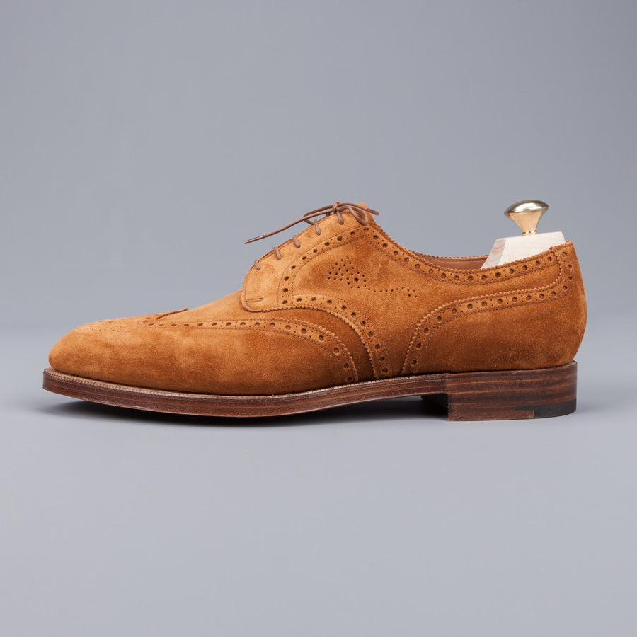 Edward Green Sandringham in Tobacco suede on 202 last