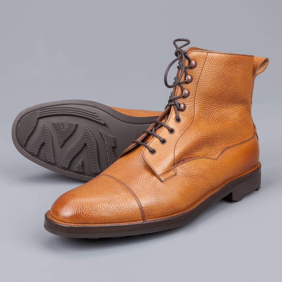 Edward Green Galway boots in Almond Grained country calf  64 last