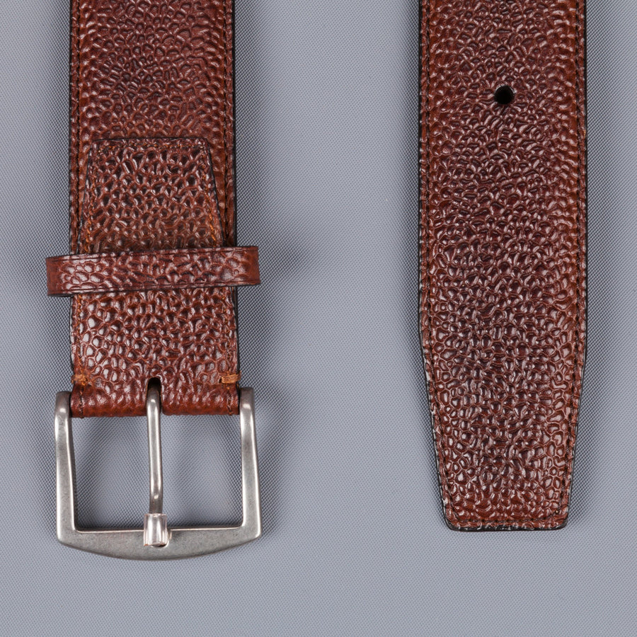Edward Green belt 38 mm in rosewood country calf grained leather