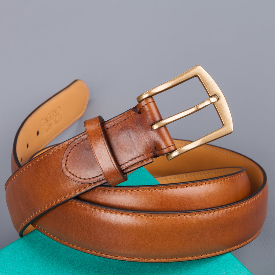 Edward Green belt 32 mm in chestnut antique leather