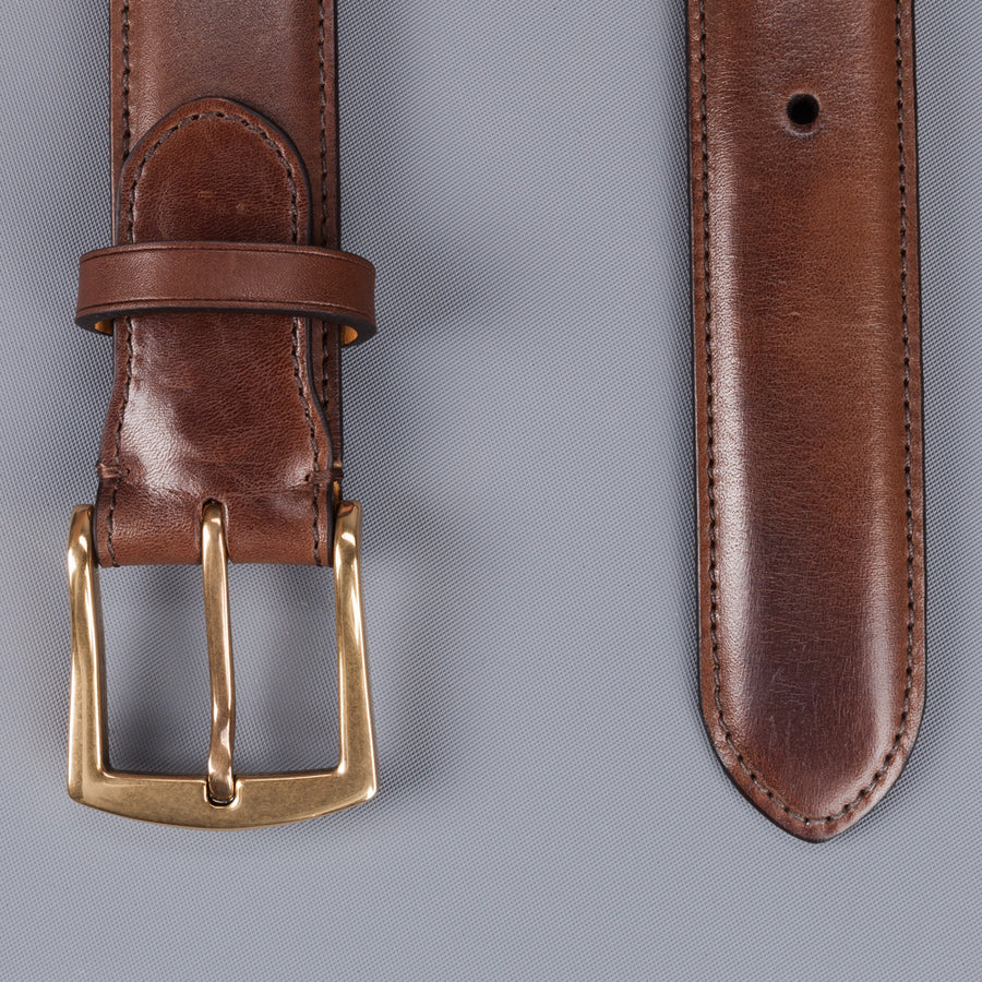 Edward Green belt 32 mm in dark oak antique leather