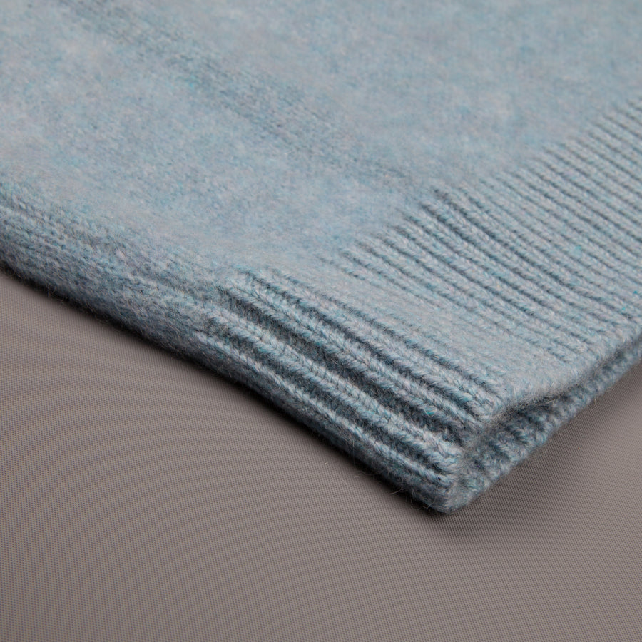 The Elder Statesman  @ Frans Boone Cashmere Simple Crew Unisex sweater Baby Blue