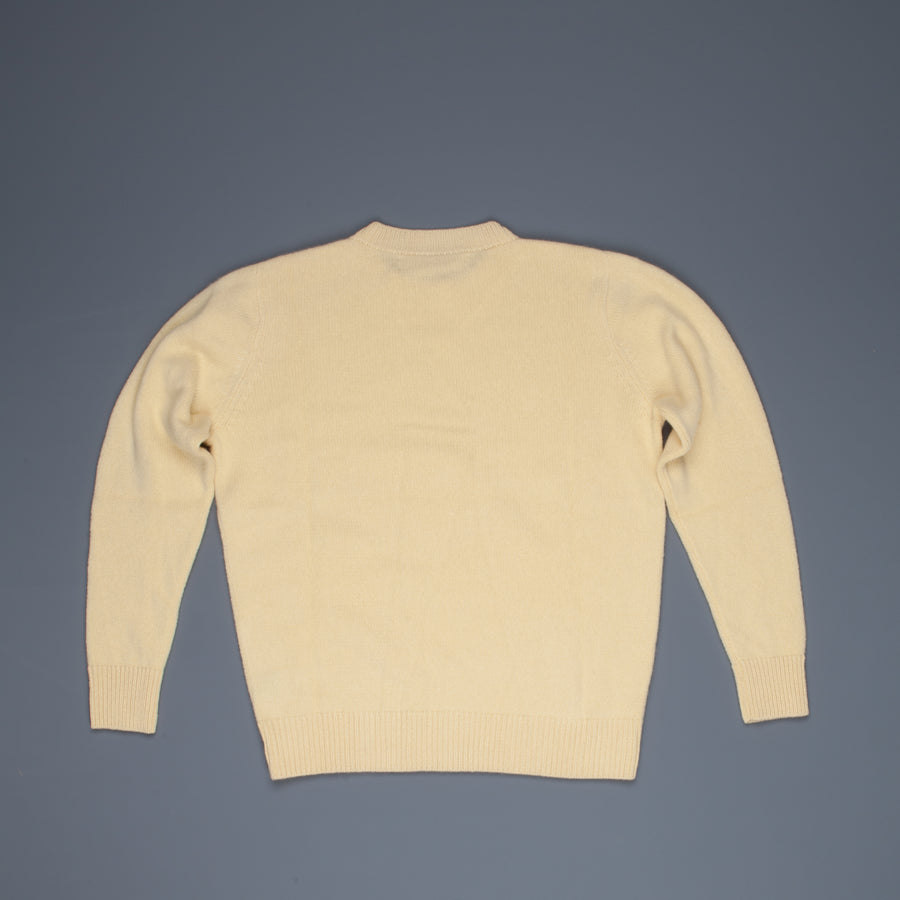 The Elder Statesman  @ Frans Boone Cashmere Simple Crew Unisex sweater Butter