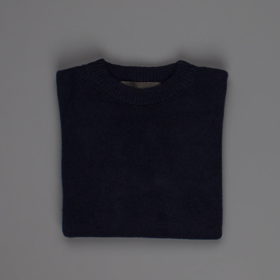 The Elder Statesman  @ Frans Boone Cashmere Simple Unisex Crew sweater Navy