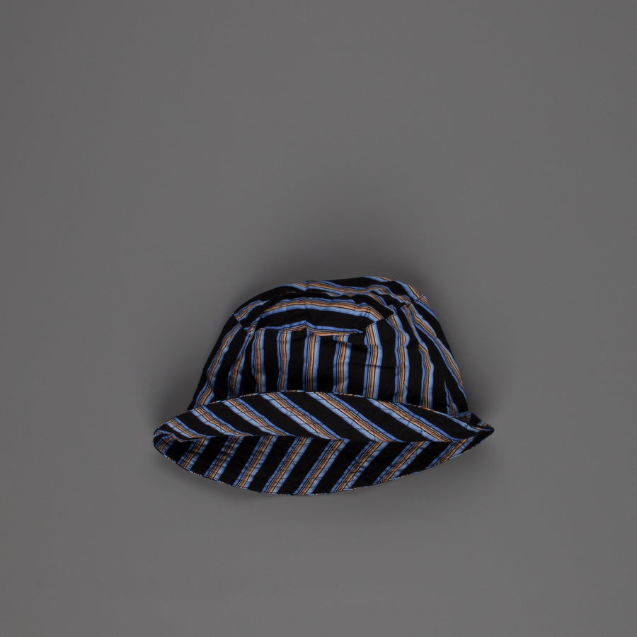 Engineered Garments Bucket Hat Black / Blue Regent Stripe