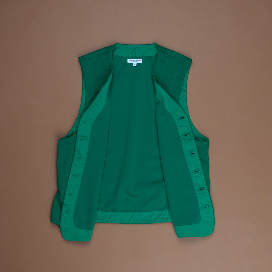 Engineered Garments Knit Vest Kelly 7.75oz Diamond Knit