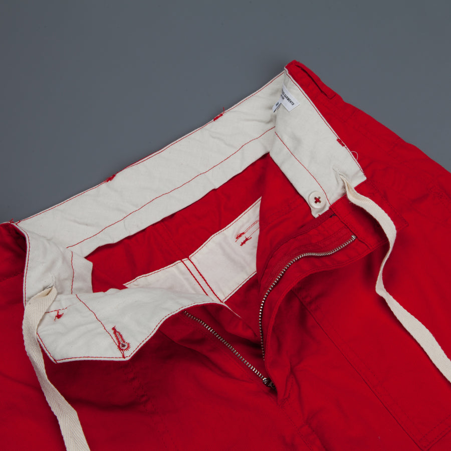Engineered Garments Fatique Short Red 7.5oz Twill