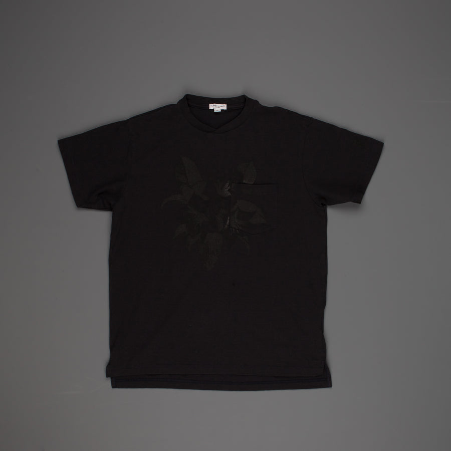 Engineered Garments Printed Cross Crew Neck T-Shirt Dk. Navy - Floral