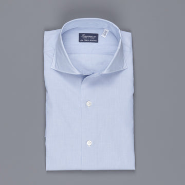 Finamore Milano shirt Eduardo collar navy blue hairline