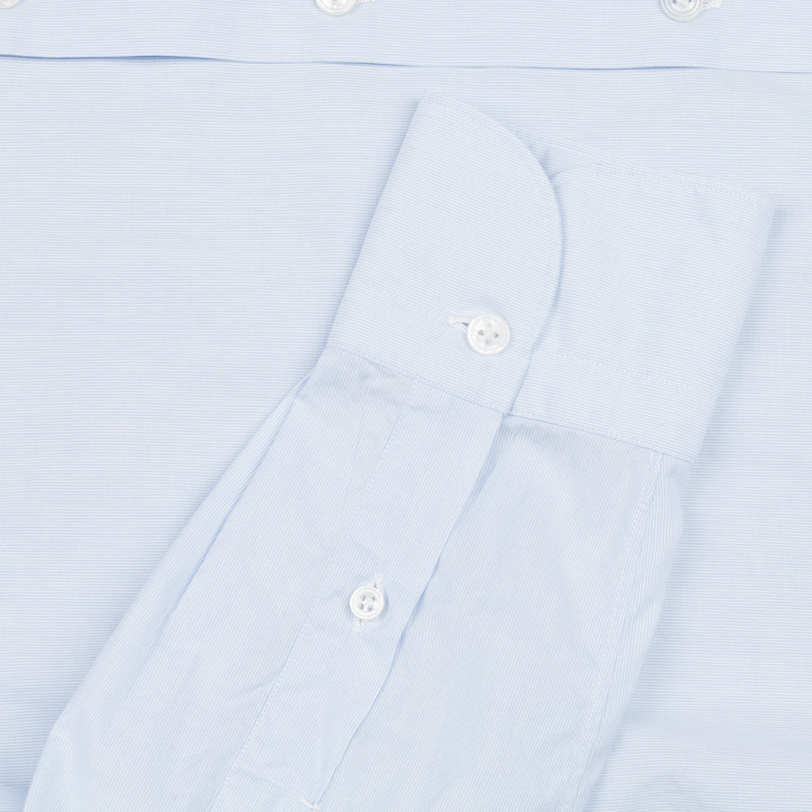 Finamore Milano shirt Eduardo collar light blue hairline