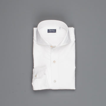 Finamore washed Gaeta shirt Sergio collar brushed oxford white