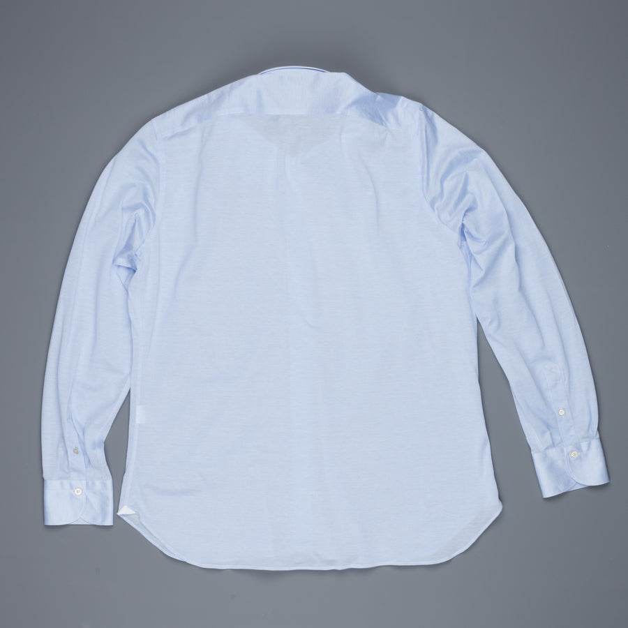 Finamore Ottawa Shirt Sergio Collar Stretch Piquet Blue