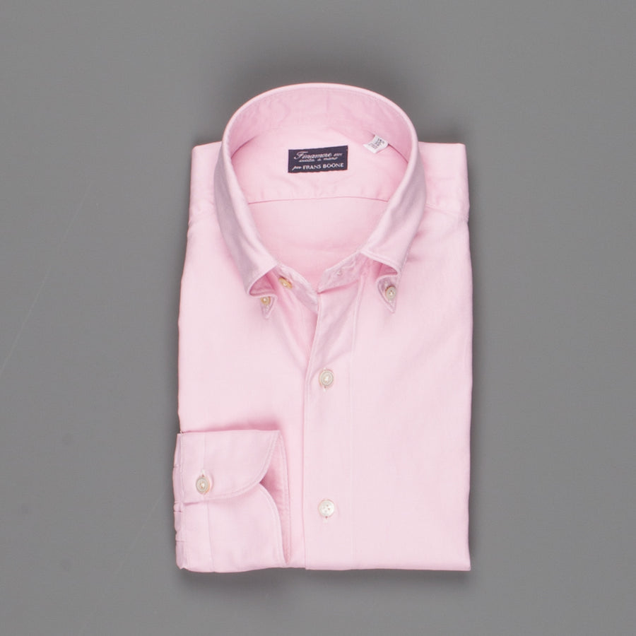 Finamore x Frans Boone button down shirt Tokyo oxford pink