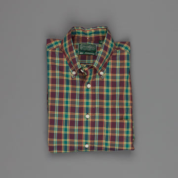 Gitman Vintage Button Down Shirt Poplin Ashland Plaid